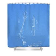 Vintage Paddle Patent Shower Curtain