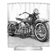 Vintage Panhead Shower Curtain