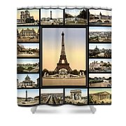 Vintage Paris 1900 Shower Curtain by Andrew Fare