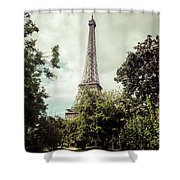 Vintage Paris Landscape Shower Curtain