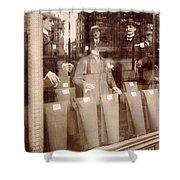 Vintage Paris Men's Fashion Shower Curtain