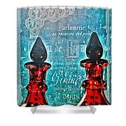Vintage Paris Perfume Shower Curtain
