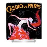 Vintage Paris Showgirl Shower Curtain