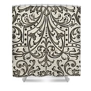 Vintage Parterre Design Shower Curtain