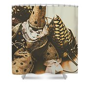 Vintage Party Puppet Shower Curtain