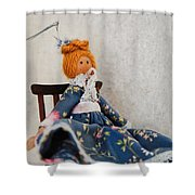Vintage Peg Doll  Shower Curtain