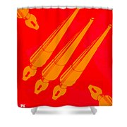 Vintage Pen Set Shower Curtain