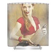 Vintage Perfume Advertisement Circa 2015 Shower Curtain