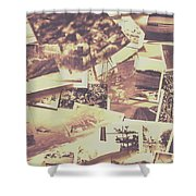 Vintage Photo Design Abstract Background Shower Curtain