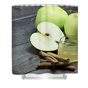 Vintage Photo Of Green Apples Shower Curtain