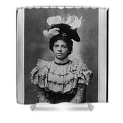 Vintage Photo Of Young Pretty Colored Lady Shower Curtain