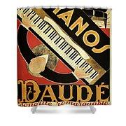 Vintage Piano Art Deco Shower Curtain
