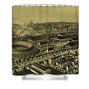 Vintage Pictorial Map Of Altoona Pa   Shower Curtain