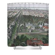 Vintage Pictorial Map Of Buffalo Ny - 1872 Shower Curtain