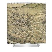 Vintage Pictorial Map Of El Paso Texas - 1886 Shower Curtain
