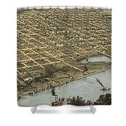 Vintage Pictorial Map Of Omaha Nebraska - 1868 Shower Curtain