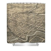 Vintage Pictorial Map Of St. Thomas Ontario - 1875  Shower Curtain