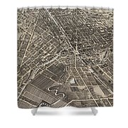 Vintage Pictorial Map Of Syracuse New York - 1874 Shower Curtain