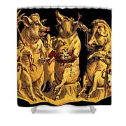 Pig Party Shower Curtain