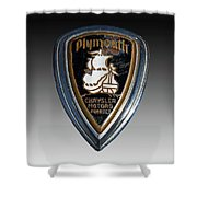 Vintage Plymouth Car Emblem Shower Curtain