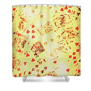 Vintage Poker Background Shower Curtain
