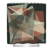 Vintage Polygon Pattern Shower Curtain