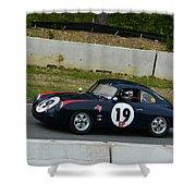 Vintage Porsche 19 Climbing Hill Shower Curtain