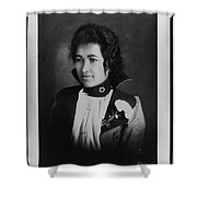 Vintage Portrait Of Colored Lady Shower Curtain