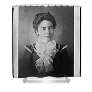 Vintage Portrait Of Young Lady Shower Curtain