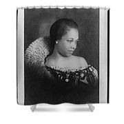 Vintage Portrait Photo Of Young Pretty Colored Lady Shower Curtain