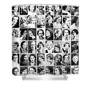 Vintage Portrait Photos Depict Womens Hairstyles Of The 1930s  - Doc Braham - All Rights Reserved. Shower Curtain