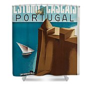 Vintage Portugal Travel Poster Shower Curtain