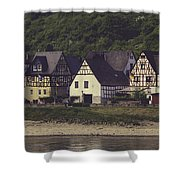 Vintage Postcard Look Of Spay Germany Shower Curtain