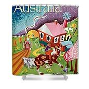 Vintage Poster - Australia Shower Curtain