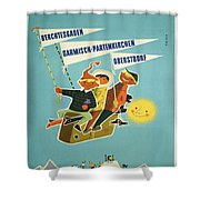 Vintage Poster - Bavarian Alps Shower Curtain