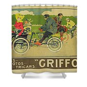 Vintage Poster Bicycle Advertisement Shower Curtain