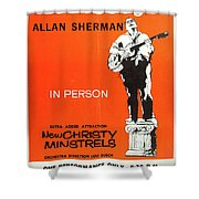 Vintage Poster My Son The Fold Singer Allan Sherman Shower Curtain