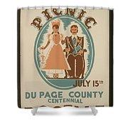 Vintage Poster Old Settlers Picnic Shower Curtain