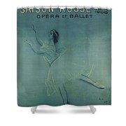 Vintage Poster - Saison Russe Shower Curtain