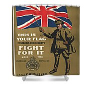 Vintage Poster - This Is Your Flag Shower Curtain