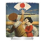 Vintage Poster - Toyo Kisen Kaisha Shower Curtain