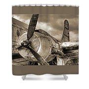 Vintage Prop - Sepia Shower Curtain