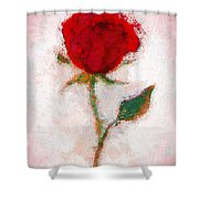 Vintage Red Rose  Shower Curtain