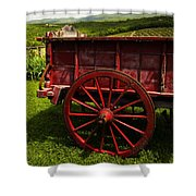 Vintage Red Wagon 2 Shower Curtain