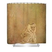 Vintage Reflecting Woman 1 - Artistic Shower Curtain