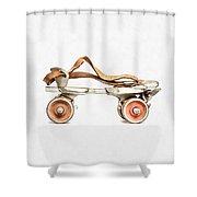 Vintage Roller Skate Painting Shower Curtain