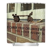Vintage Roller Skate Quote Shower Curtain