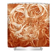 Vintage Rose Petals Abstract  Shower Curtain
