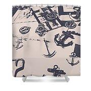 Vintage Sailing Art Shower Curtain
