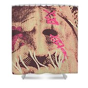 Vintage Scarecrow Mask Shower Curtain